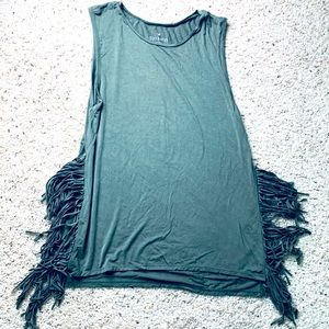 Soft & Sexy Tank Top with fringe sides